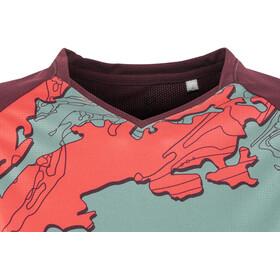 PEARL iZUMi Launch Fietsshirt korte mouwen Dames, cayenne/port composite